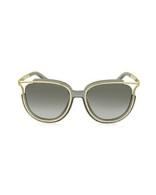 JAYME CE 688S 036 Gray Acetate and Gold Metal Square Women's Sunglasses - Chloe