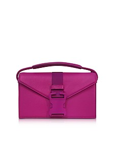 Purple Grained Leather Devine Og Bag - Christopher Kane