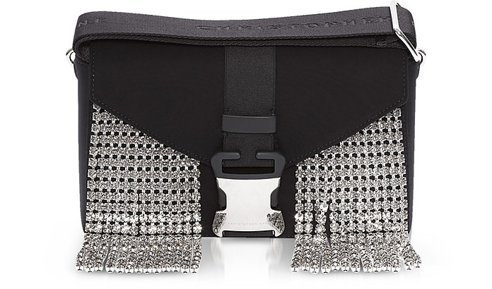 Black Neoprene & Crystals Devine Og Bag - Christopher Kane