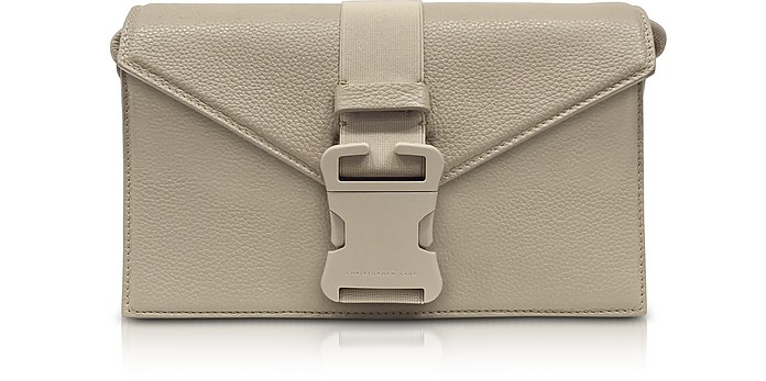 Devine Og Pitch Bag Borsa con Tracolla in Pelle Moon Dust - Christopher Kane