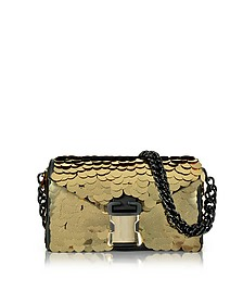 Gold Sequins Classic Devine Clutch w/Chain Strap - Christopher Kane