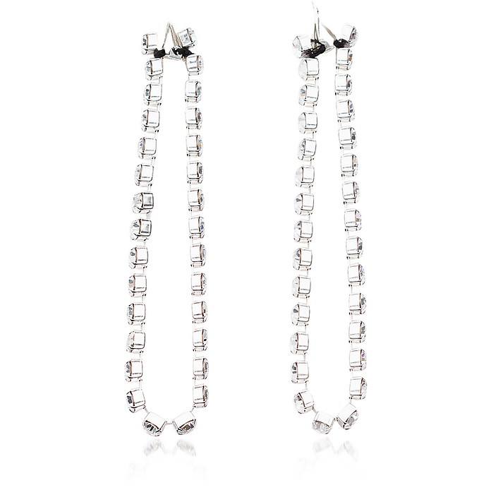 Crystal Chain Earrings - Christopher Kane