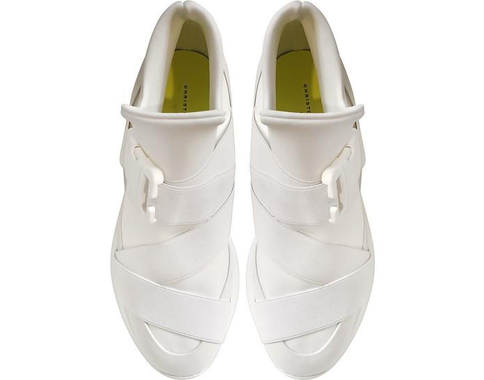 Sneakers High Top in Neoprene Bianco Ottico Christopher Kane 35 (35 EU) ua2E5DD