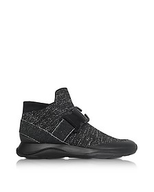 Sneakers High Top in Lurex Nero - Christopher Kane
