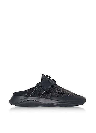 Mule-Sneaker de Tejido Negro y Gris - Christopher Kane