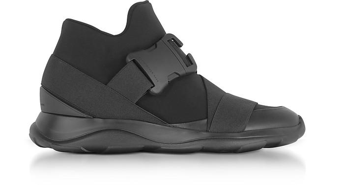 Black Neoprene High Top Women's Sneakers - Christopher Kane