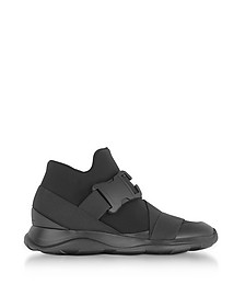 Black Neoprene High Top Women's Sneakers - Christopher Kane