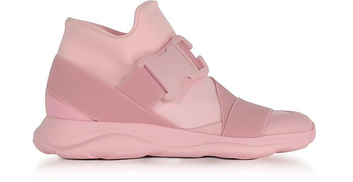Pink Neoprene High Top Women's Sneakers - Christopher Kane