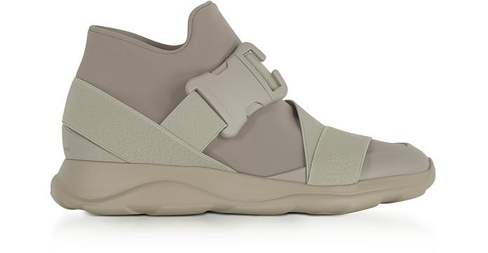 Putty Gray Neoprene High Top Women's Sneakers - Christopher Kane