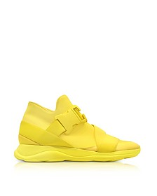Yellow Neoprene High Top Women's Sneakers - Christopher Kane