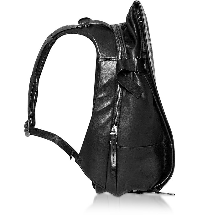 Black Leather ISAR M Backpack - Côte&Ciel