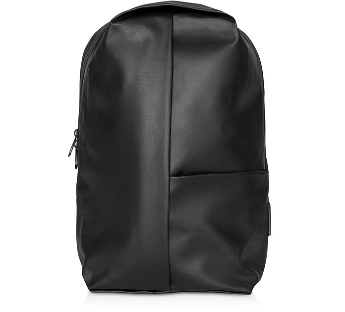 Black Sormonne Coated Canvas Backpack - Côte&Ciel