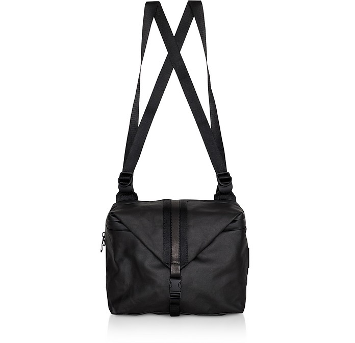 Black Coated Canvas Yakima Backpack - Côte&Ciel