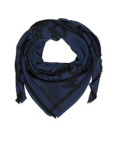 Allover Logo Print Wool Scarf