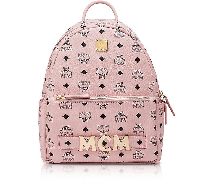 Pink Visetos Trilogie Stark Backpack - MCM