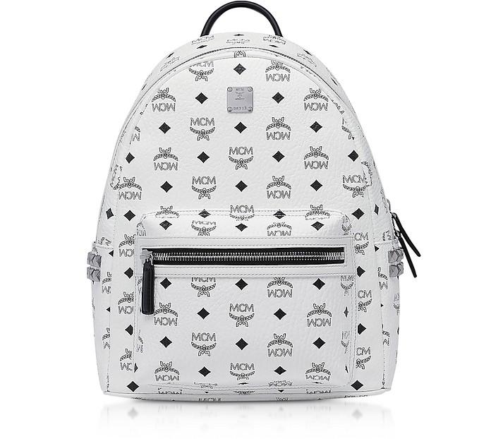 White SMD Visetos Stark Backpack - MCM