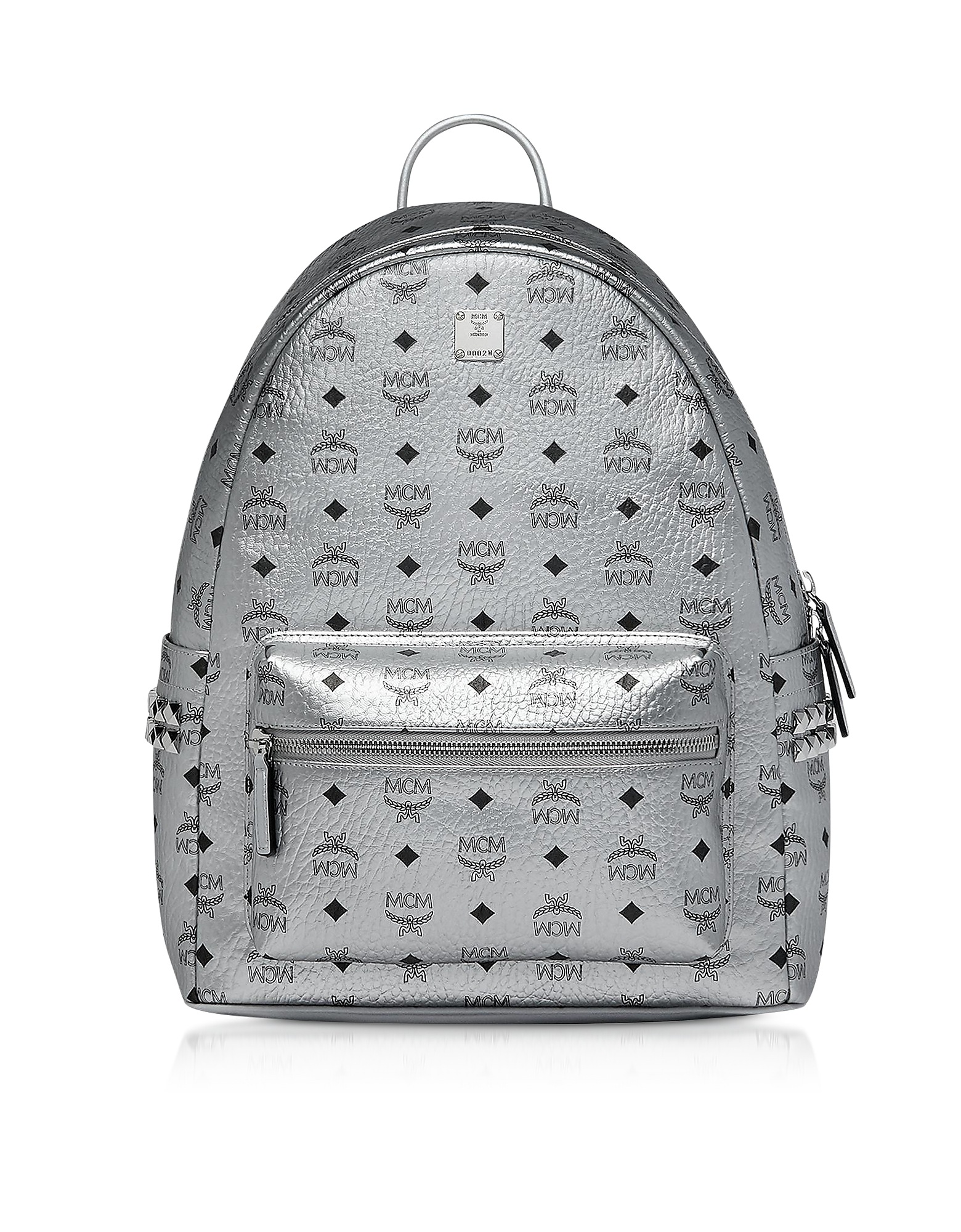 0260c8a45eaa8 Mcm Berlin Silver Side Studs Visetos Stark Backpack 40 | ModeSens