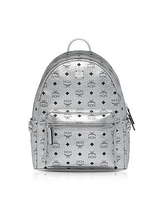 98493ff997e60 Berlin Silver Side Studs Visetos Stark Backpack 37 - MCM