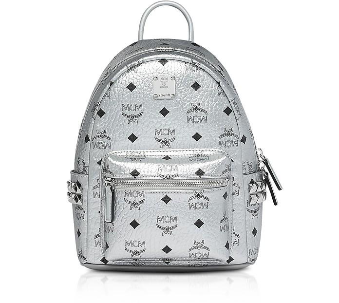 Berlin Silver Side Studs Visetos Stark Backpack 27 - MCM