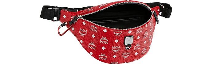 785ca4d02ff19 Viva Red Fursten Medium Belt Bag w/White Logo Visetos - MCM. Sold Out