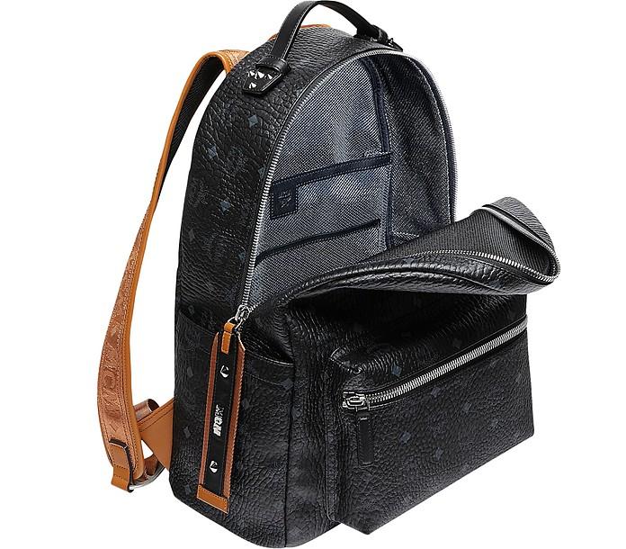 f897bb09d5924 MCM Black/Cognac Visetos Stark Backpack at FORZIERI