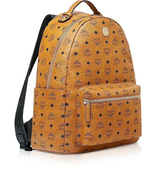 0aa15046fe8fb MCM Cognac Visetos Stark Backpack at FORZIERI