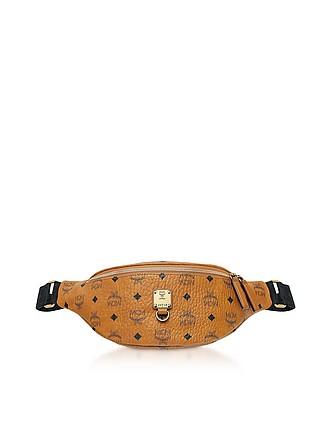 afa343490f5362 Small Cognac Visetos Fursten Belt Bag - MCM