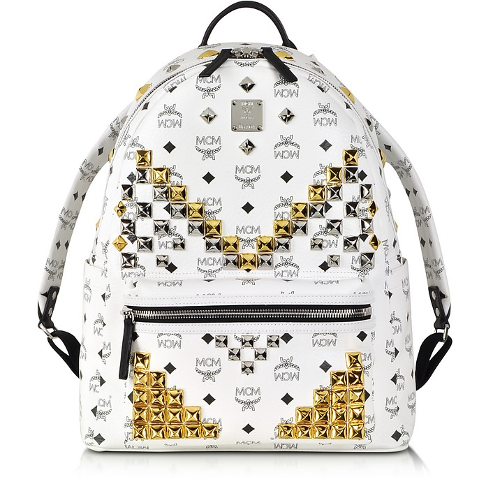 Medium Stark White Backpack - MCM
