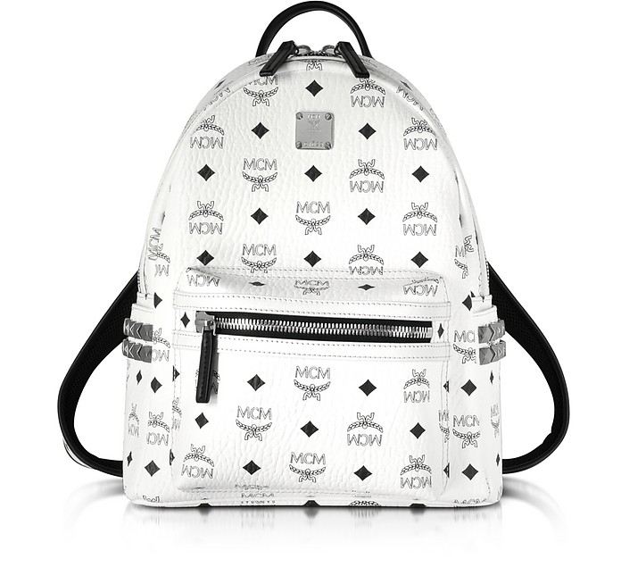 mcm stark white small backpack at forzieri