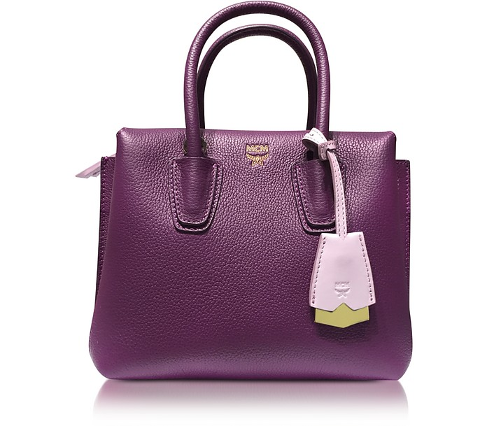 Milla Park Avenue Mystic Purple Leather Mini Tote - MCM