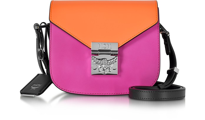 Patricia Atomic Orange and Electric Pink Leather Mini Shoulder Bag - MCM