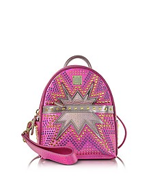 Electric Pink Stark Cyber Studs XMN Backpack - MCM