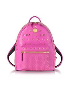 Electric Pink Leather Stark Special Small Backpack - MCM