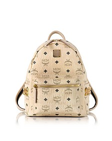 Beige Mini Stark Backpack - MCM