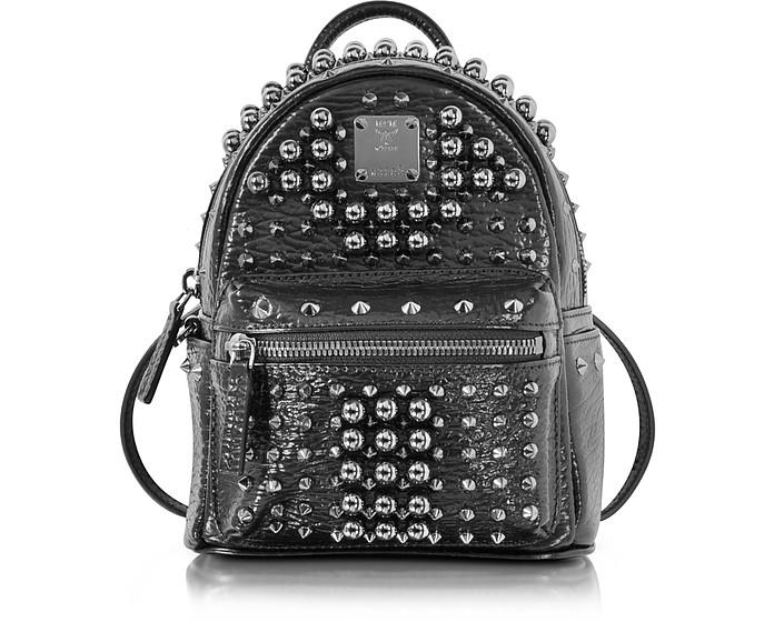Black X-Mini Stark Pearl Studs Backpack - MCM