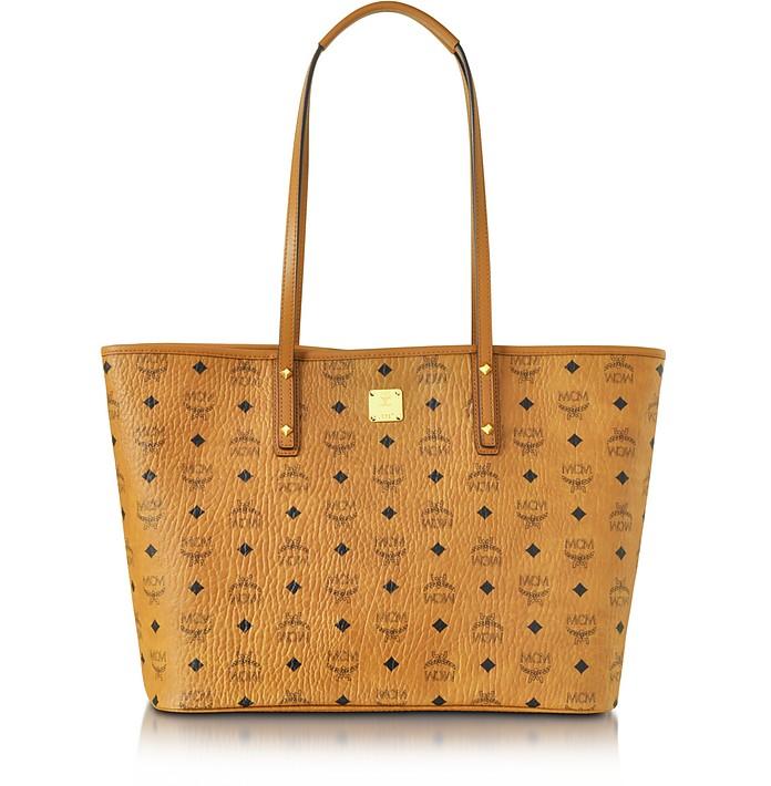 mcm anya cognac top zip medium shopping bag at forzieri. Black Bedroom Furniture Sets. Home Design Ideas