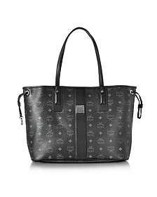 Black Shopper Project Visetos Liz Reversible Medium Tote - MCM
