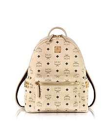 Beige Small Stark Backpack - MCM
