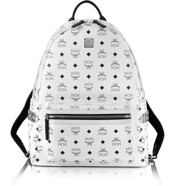 White Medium Stark Backpack - MCM