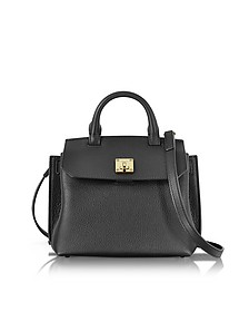 Black Park Avenue Leather Milla Small Crossbody - MCM