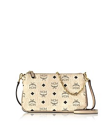 Millie Visetos Medium Zip Crossbody Bag - MCM
