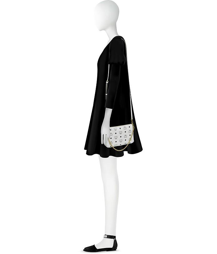 Millie Visetos Medium Zip Crossbody Bag
