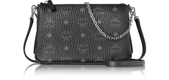 MCM Millie Visetos Black Medium Zip Crossbody Bag at FORZIERI Australia