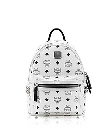 White Mini Stark Backpack - MCM