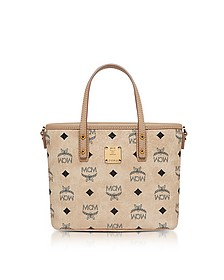 Anya Beige Top Zip Mini Tote Bag  - MCM