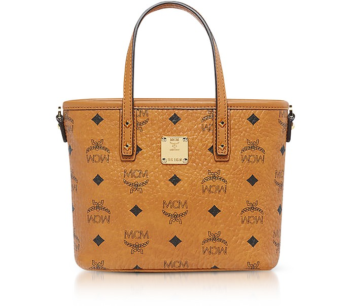 Anya Cognac Top Zip Mini Tote Bag