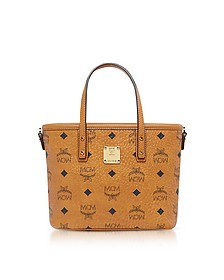 Anya Cognac Top Zip Mini Tote Bag  - MCM