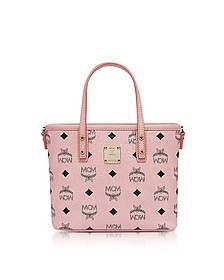 Anya Soft Pink Top Zip Mini Shopping Bag  - MCM
