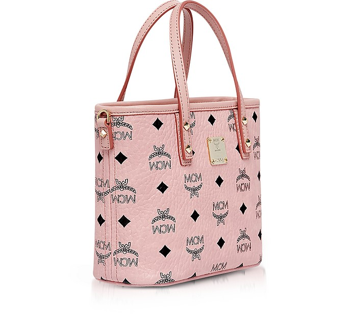 Anya Soft Pink Top Zip Mini Shopping Bag