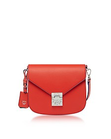 Patricia Park Avenue Marigold Orange Tipped Leather Small Shoulder Bag - MCM